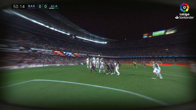 ¿Cómo se ve una falta de Messi desde la óptica de un portero?