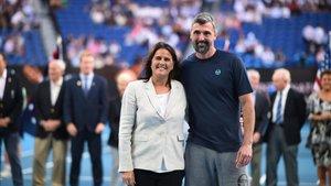 Conchita e Ivanisevic, durante el acto de reconocimiento en Melbourne
