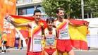 Diego García, María Pérez y Álvaro Martín celebran su éxito