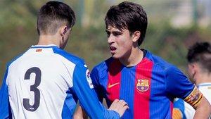 Eric Garcia, en su etapa con el Cadete A del Barça