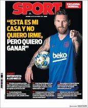Esta es la portada de Sport de este 12 de septiembre