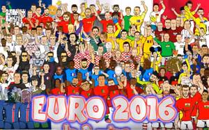 La Eurocopa, en dibujos animados