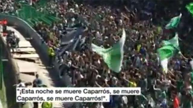 La grada del Villamarín cantó contra Caparrós
