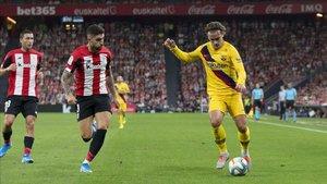 Griezmann jugó un mal partido en San Mamés