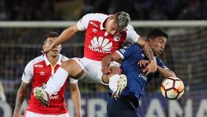 Independiente Santa Fe y Millonarios empataron 0-0 por los octavos de final de la Copa Sudamericana
