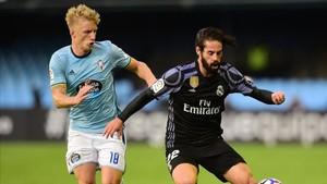 Isco cuajó un buen partido en Vigo
