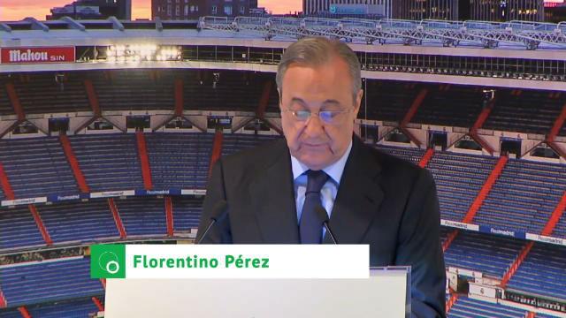 Las palabras de Florentino en la presentación de Vinicius