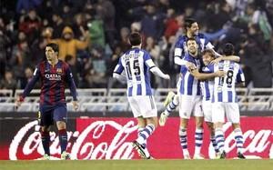 Luis Suárez, ante la Real Sociedad