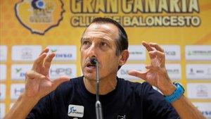 Maldonado, en la rueda de prensa previa al duelo frente al Barça