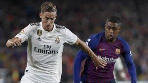 Marcos Llorente volvió a lesionarse en el Camp Nou