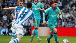 Messi dio una asistencia en Anoeta