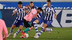 Messi luchó como el que más en Mendizorroza