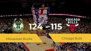 Milwaukee Bucks se impone por 124-115 frente a Chicago Bulls