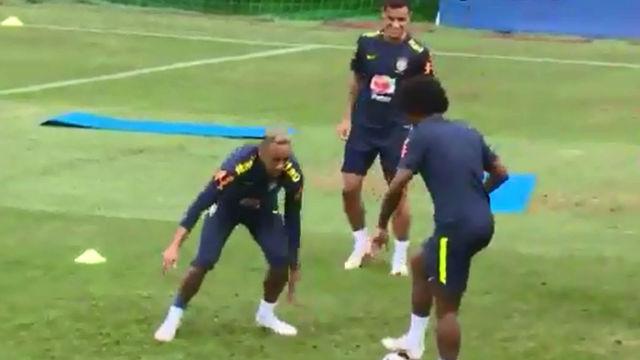 El momento exacto de la lesión de Neymar