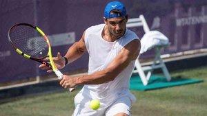 Nadal prepara el torneo de Wimbledon