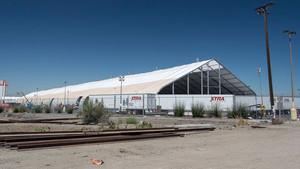 La nueva carpa bajo la que se produce el Tesla Model 3.