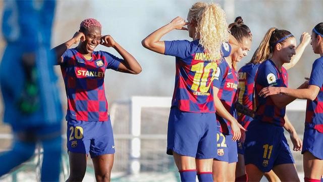 Oshoala lidera al Barça en una nueva goleada al Tacón