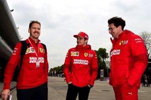 Vettel, con Leclerc y Binotto