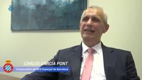 El vicepresidente del Espanyol valora la marcha de Rubi y la temporada perica