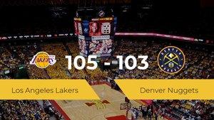Victoria de Los Angeles Lakers ante Denver Nuggets por 105-103