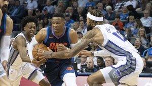 Westbrook, en una acción del partido ante los Kings