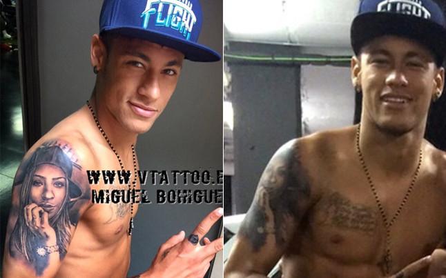 Neymar Se Tatúa La Imagen De Su Hermana Rafaella En El Brazo Derecho