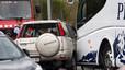 CINCO MUERTOS EN SALOU (TARRAGONA) TRAS CHOCAR UN TURISMO CON UN AUTOCAR