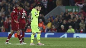 Messi se hunde en Anfield