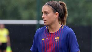 Alexia Putellas en un partido del Barça