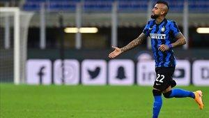 Arturo Vidal disputó sus primeros minutos como jugador del Inter