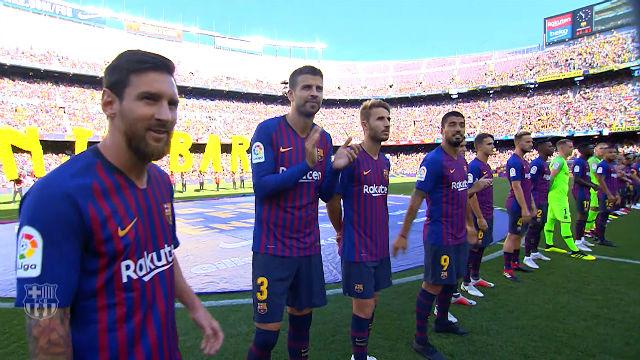 Así ha sido la presentación de la plantilla del Barça