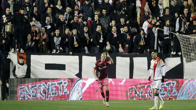 Así ha sido el primer tiempo del Rayo - Albacete suspendido