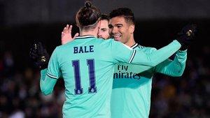 Bale no celebró el primer tanto del Real Madrid. Se llevó la reprimenda de Benzema