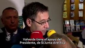 Bartomeu: Valverde es un proyecto a largo plazo