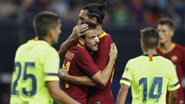 Cadena de errores en el segundo gol de la Roma