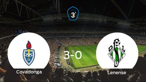 El Covadonga se lleva el triunfo tras golear 3-0 al Lenense