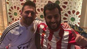 El dueño del Añmería junto a Leo Messi