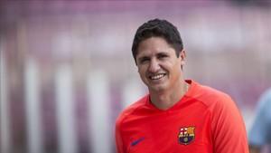 Edmilson, en una sesión con el Barça Legends