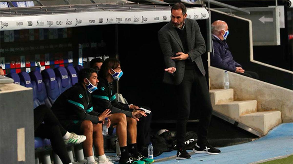 Embarba y Vicente Moreno analizan la victoria ante la Ponferradina