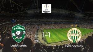 El Ferencvarosi saca un punto al Razgrad a domicilio (1-1)