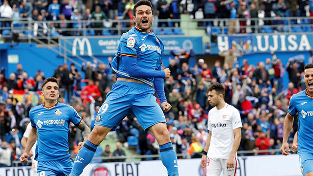 El Getafe se aferra a la Champions con una contundenten victoria ante el Sevilla