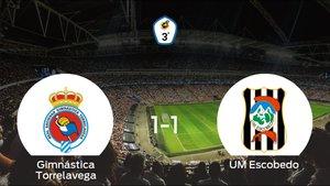 La Gimnástica Torrelavega y el UM Escobedo se reparten los puntos tras su empate a uno