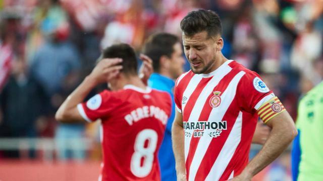 El Girona se deja remontar en el minuto 86 y está virtualmente descendido