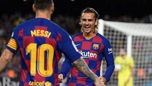 Griezmann conectó con Messi y marcó el primer gol