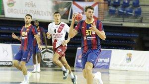 Haniel Langaro marcó cuatro goles en su regreso a Logroño