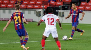 Imágenes del partido entre el FC Barcelona y el Sevilla FC. de la quinta jornada de LaLiga Santander, disputado en el Camp Nou en Barcelona.
