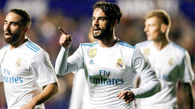 Isco fue suplente ante el Levante y marcó el segundo tanto del Real Madrid