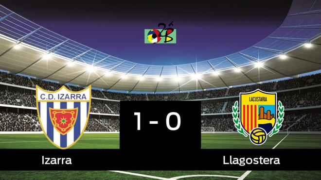 El Izarra derrotó al Llagostera por 1-0 y mantiene la categoría