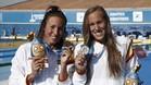 Jessica Vall y Marina García con sus medallas