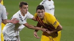 Jorge Cuenca, en su último partido con el Barça contra el Nàstic